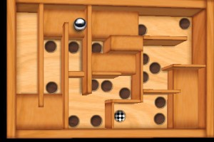 wooden labyrinth 3d screen