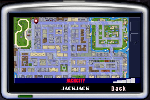 car jack streets gps screen