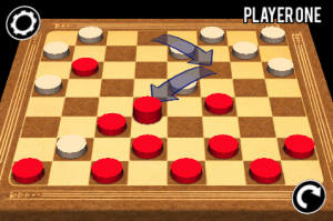 3D Checkers screen