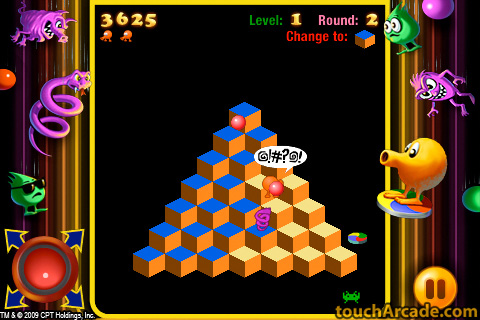 qbert remake screen