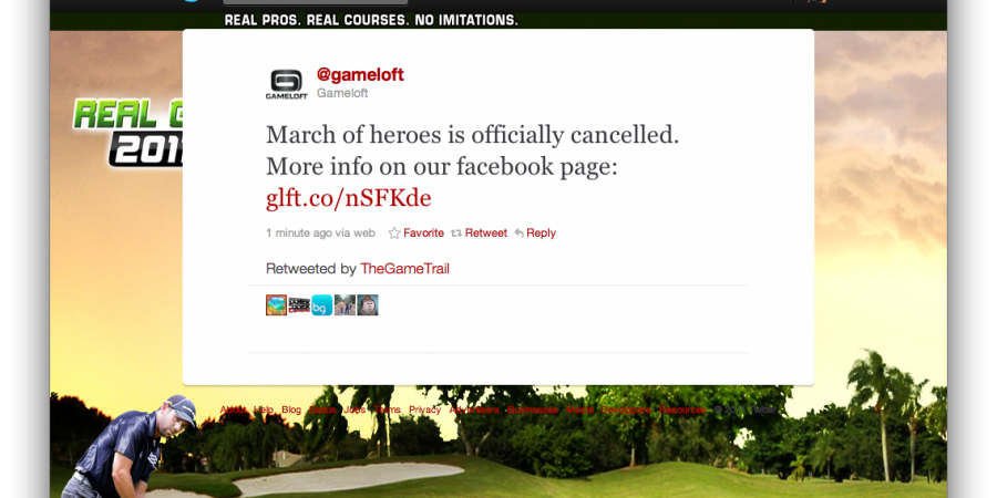 Gameloft's Unreal-Powered 'March of Heroes' Has Been Cancelled [Update: Confirmed]