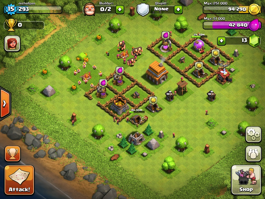 Clash of Clans Layout Town Hall Level 5