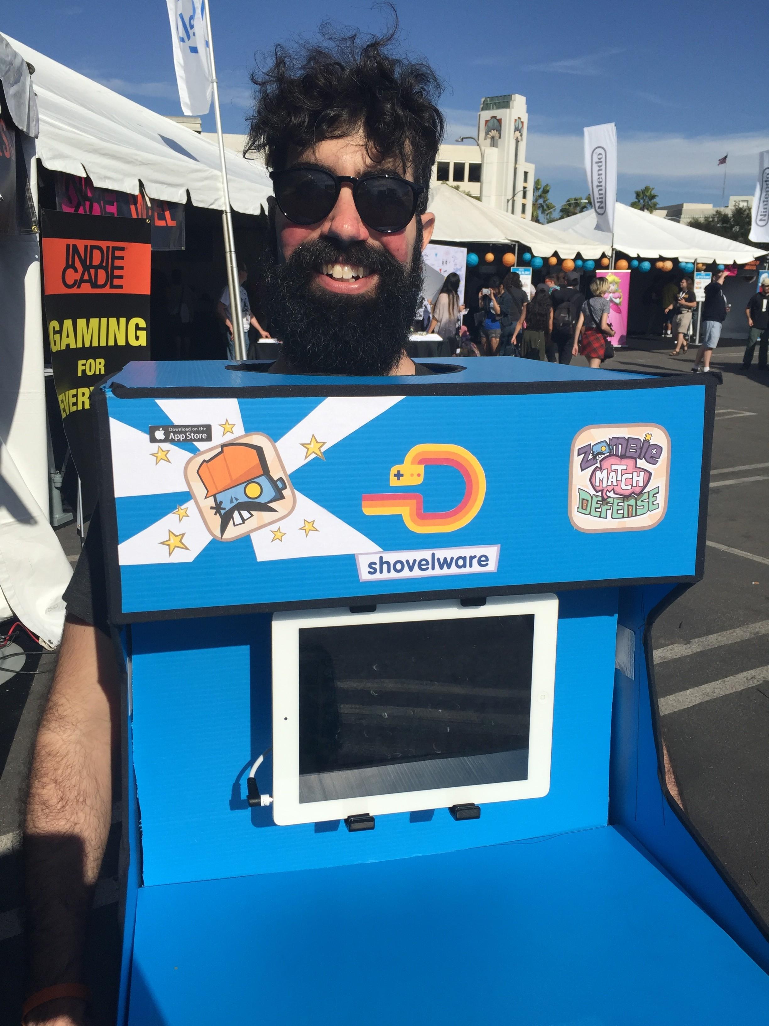 IndieCade Zombie Match Defense Human Arcade Machine
