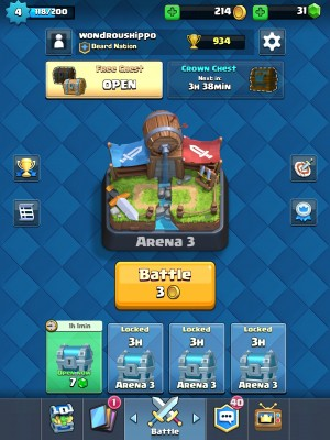 Clash Royale Menu Screen