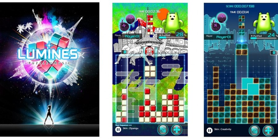 Paid 'Lumines Puzzle and Music' and Free-to-Play 'Lumines VS' Will Release Globally Later This Year