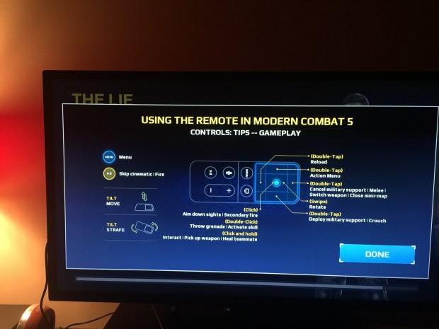 Modern Combat 5 Siri Remote