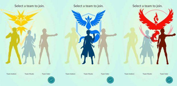 pokemon go team 1