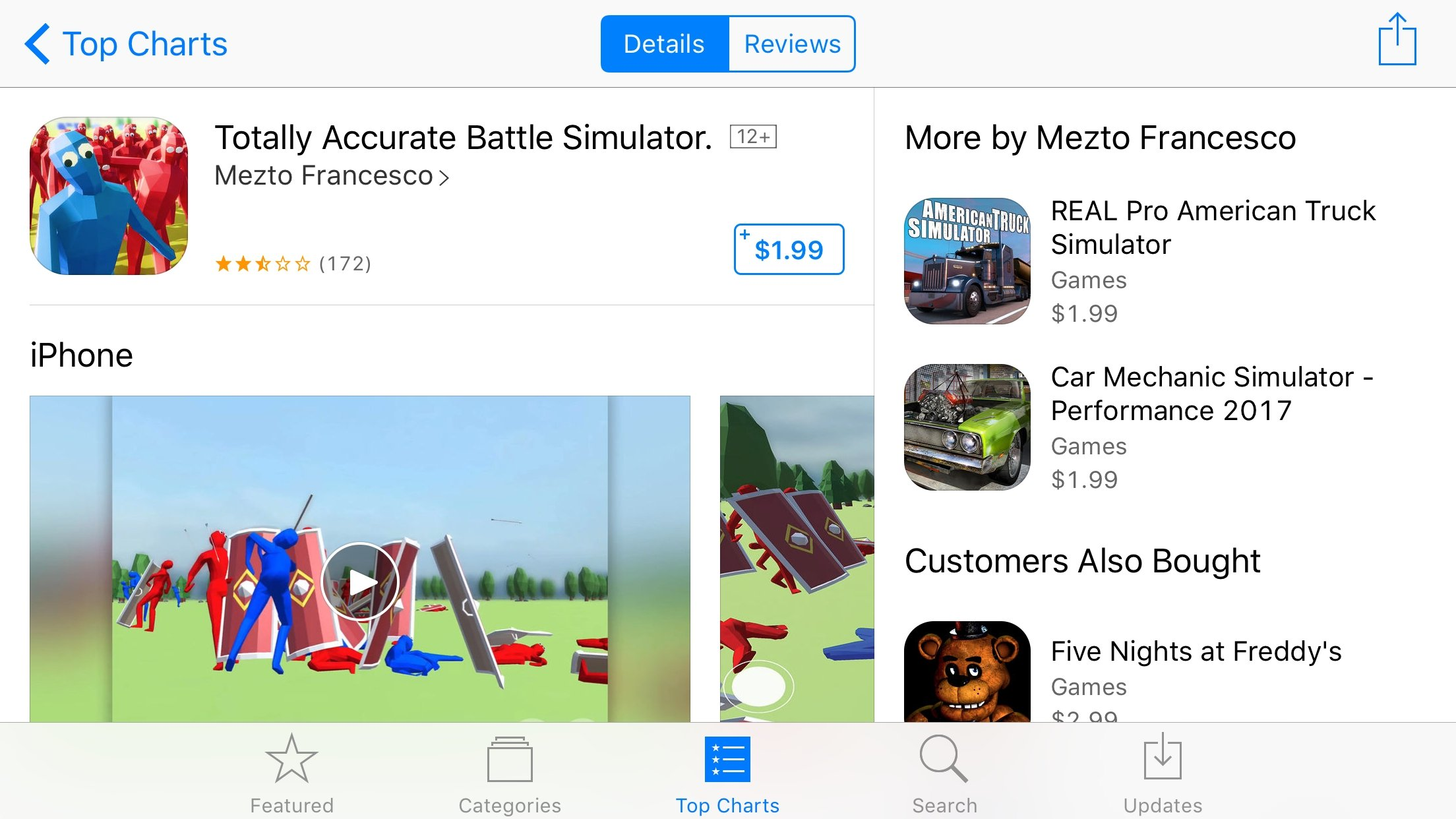 PSA: All App Store Versions of 'Totally Accurate Battle Simulator' Are Fake