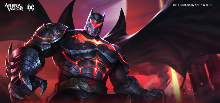 Hellbat Batman AoV skin splash