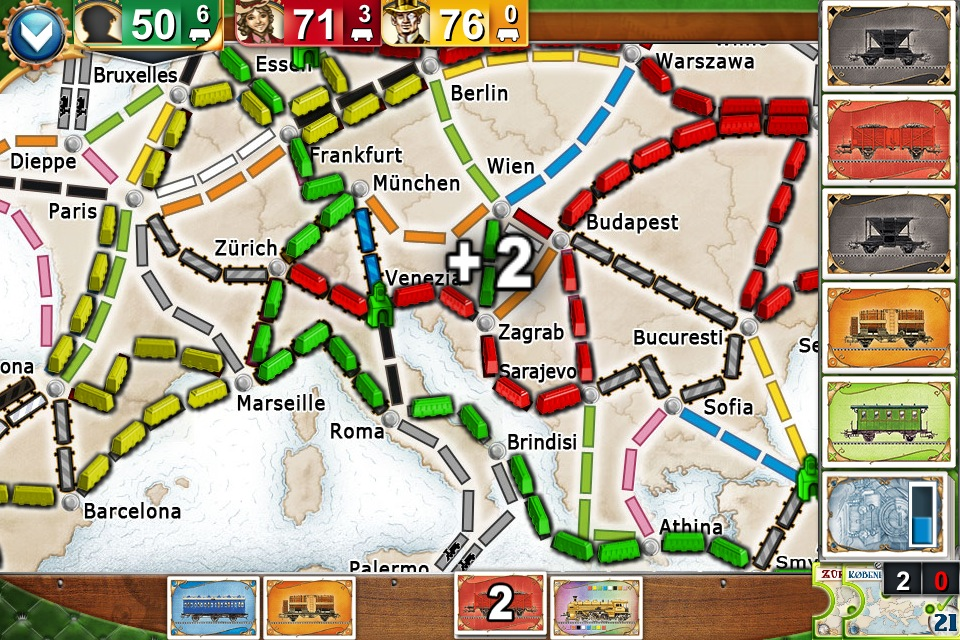 Ticket To Ride Europe Pocket Expands The Board Game On Iphone And