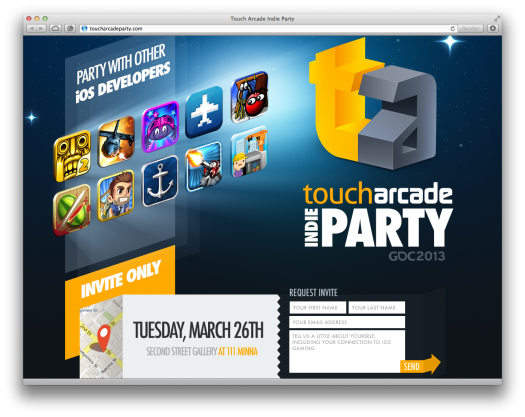 toucharcade will be at pax east and gdc we re having a party i m doing gdc sessions and you. Black Bedroom Furniture Sets. Home Design Ideas