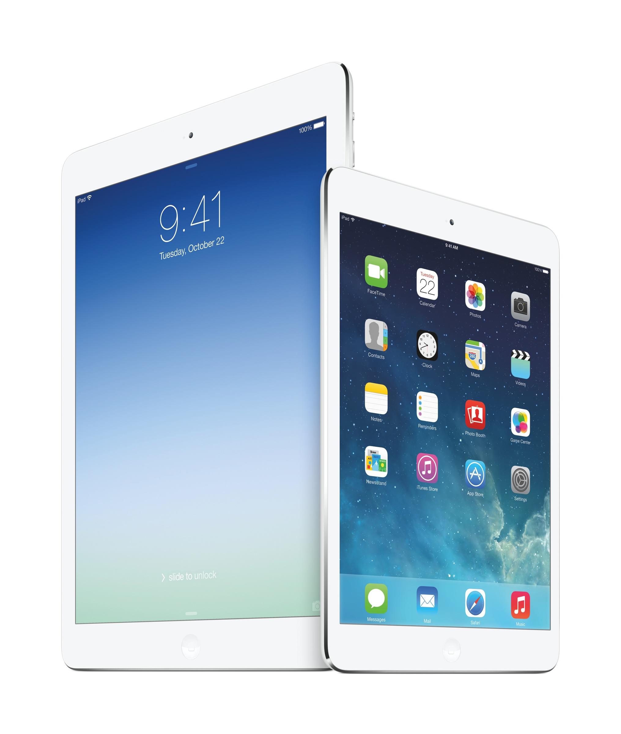 Apple Unveils New iPad Air and iPad Mini with Retina Display