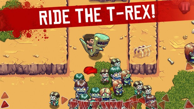 Age of Zombies Ride T-Rex