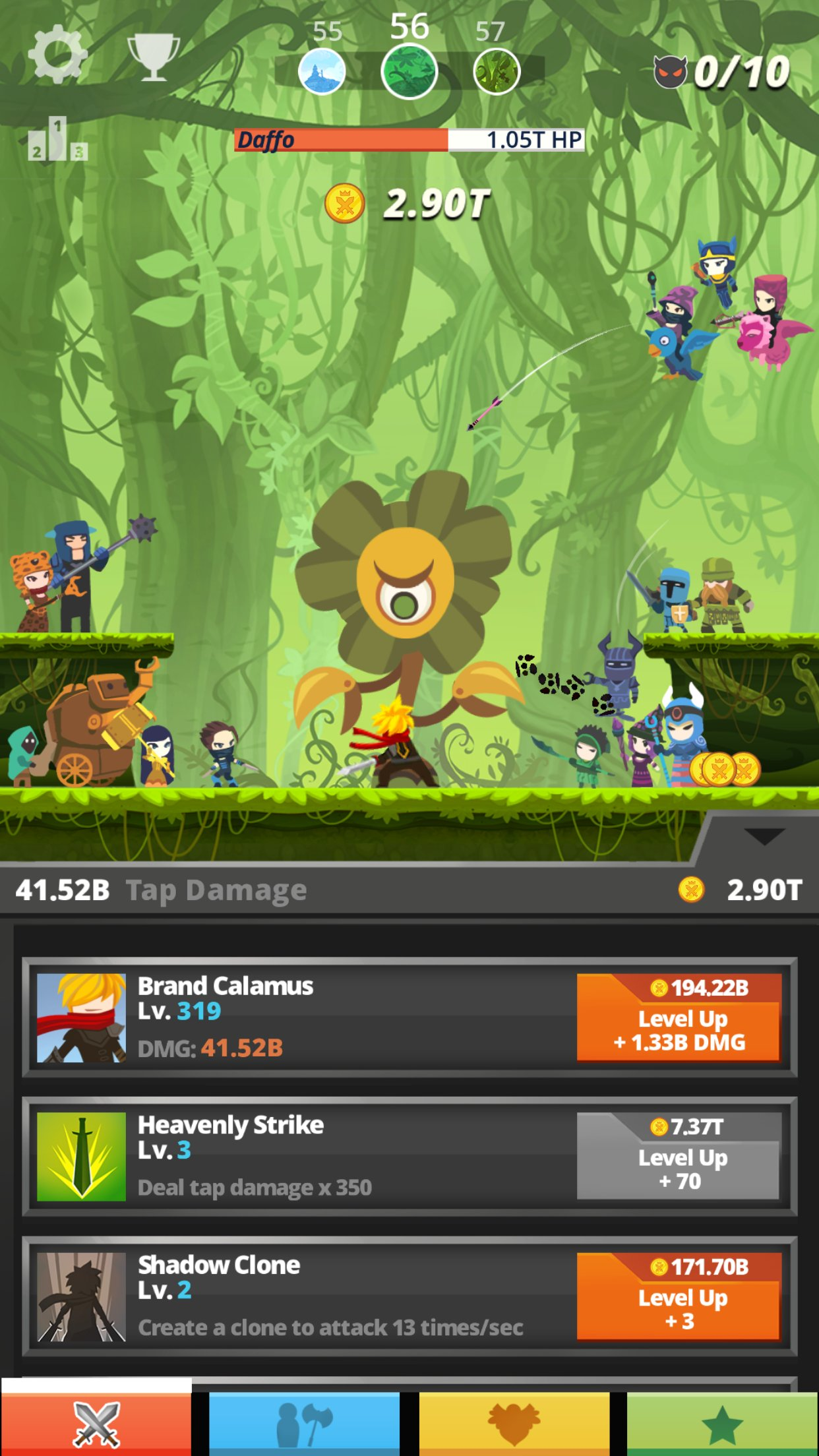 tap titans review the clicker levels up toucharcade