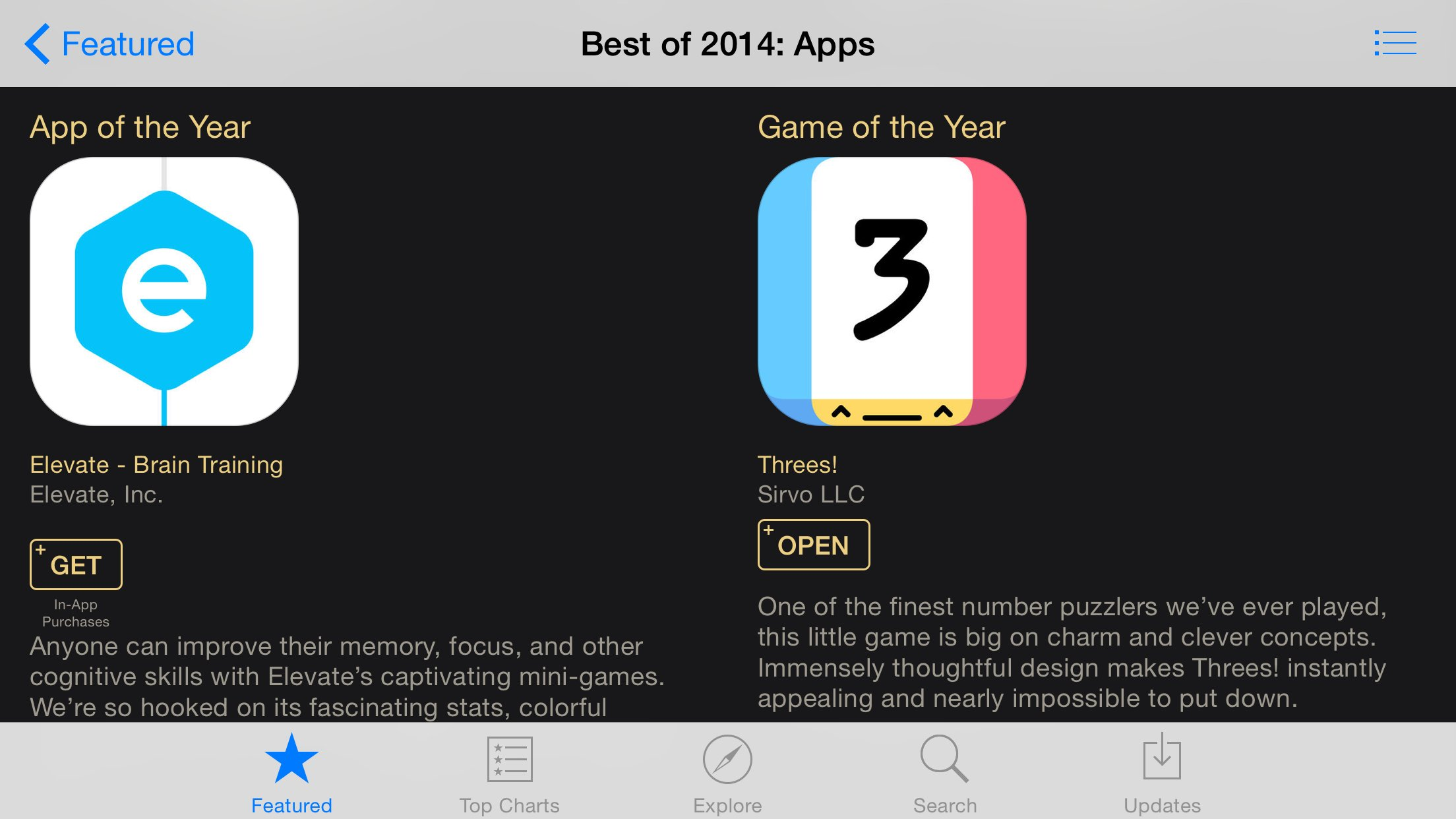 Threes' and 'Monument Valley' are Apple's iPhone and iPad Games of