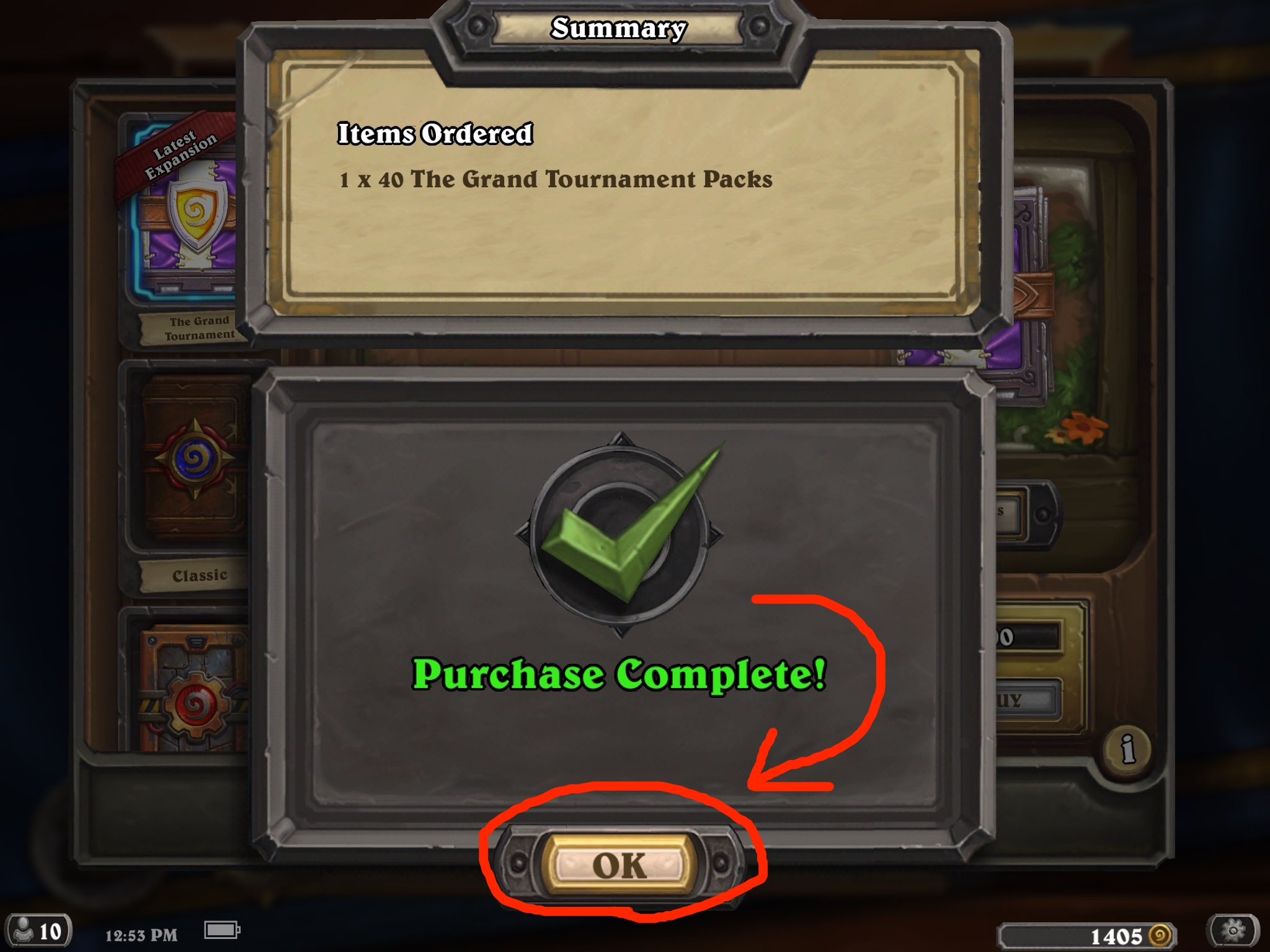 "How to Buy ""The Grand Tournament"" Card Packs in 'Hearthstone"