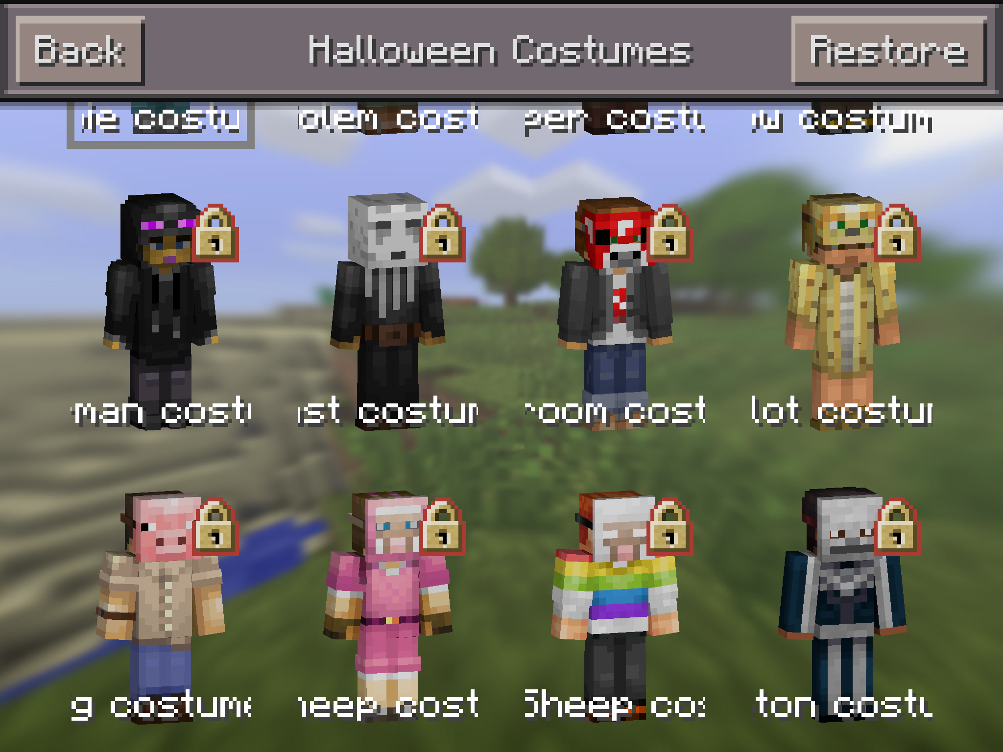 So if you feel like trick or treating as a Creeper go download those skins from the in-game menu. Minecraft & Minecraft Pocket Editionu0027 Got a Halloween Costume Pack u2013 Go Dress as ...