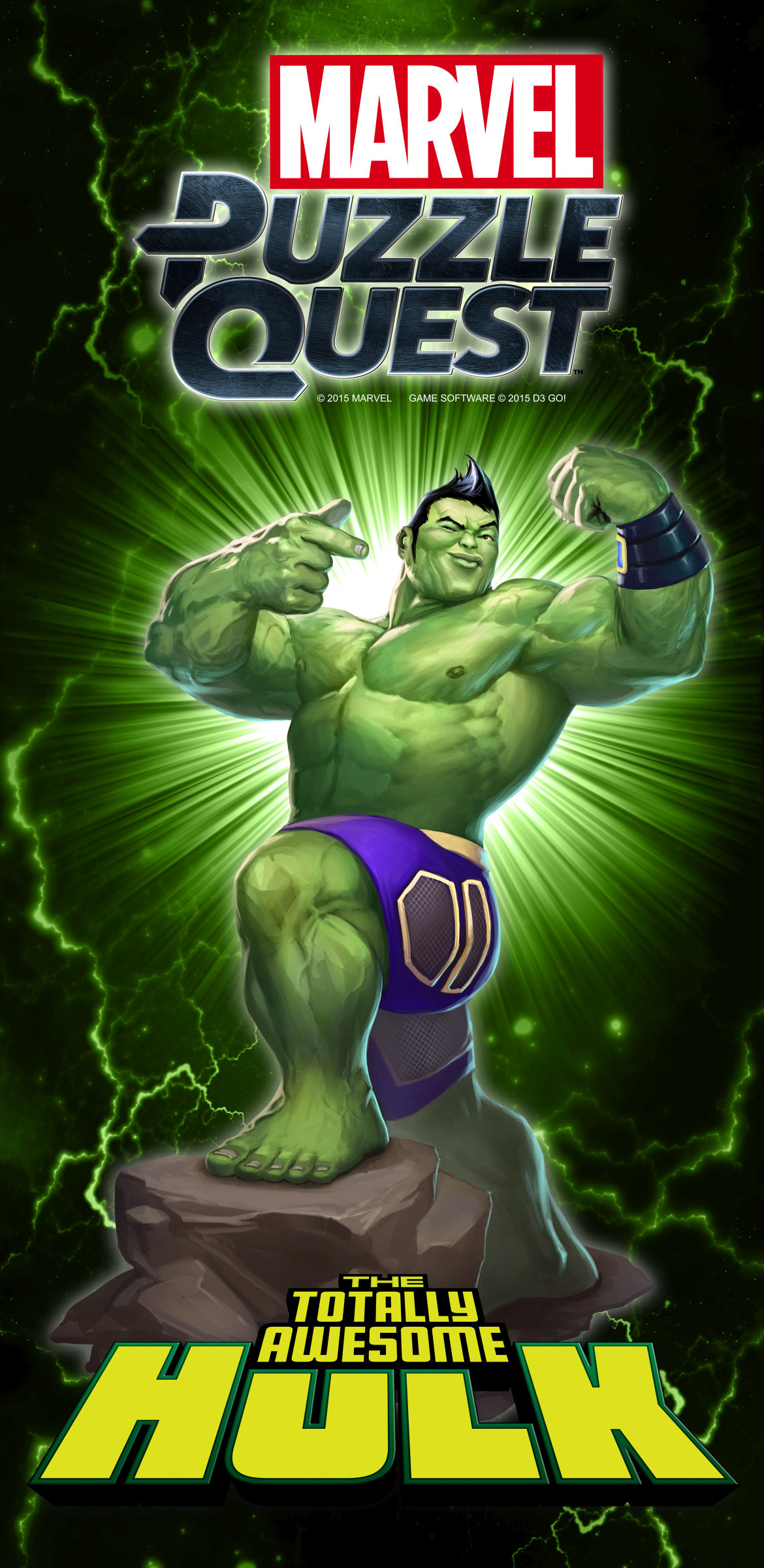 Totally Awesome Hulk Marvel Puzzle Quest