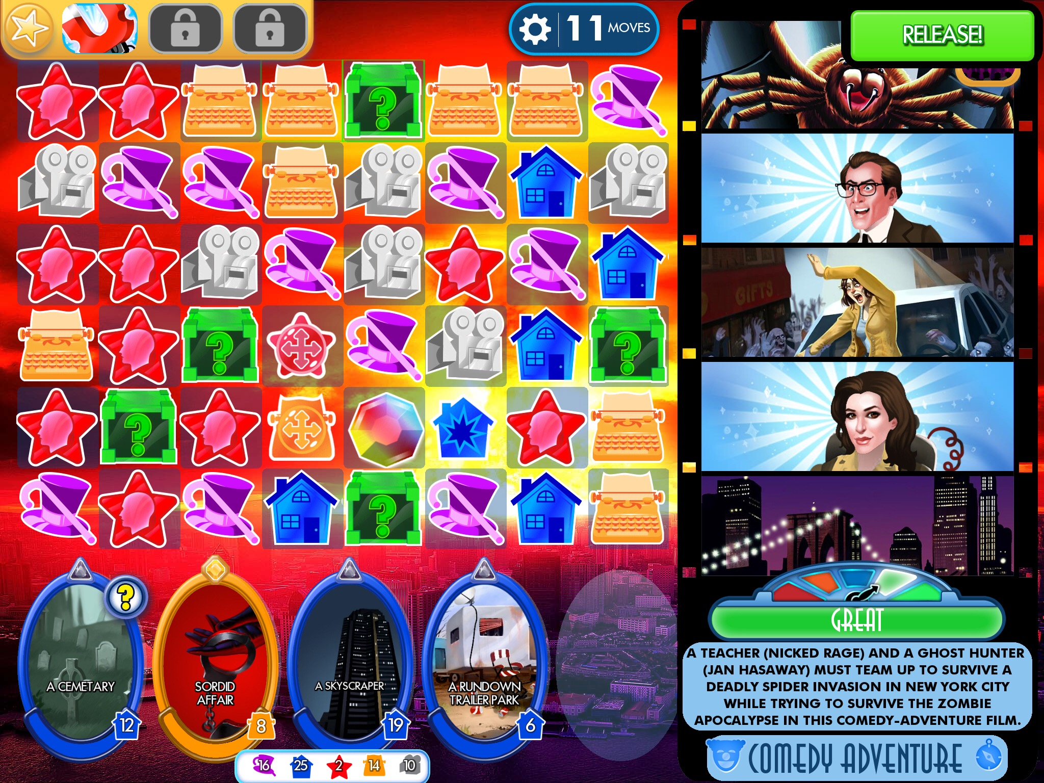 CineMagic' Review – Match Three: The Movie – TouchArcade
