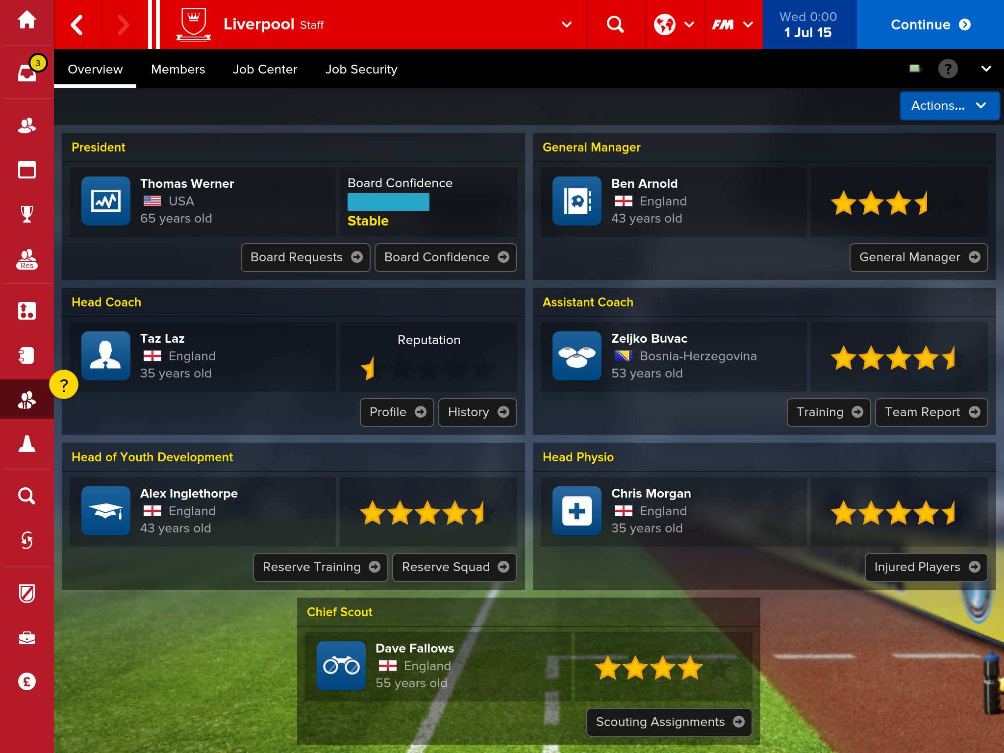 how to get time to play football manager