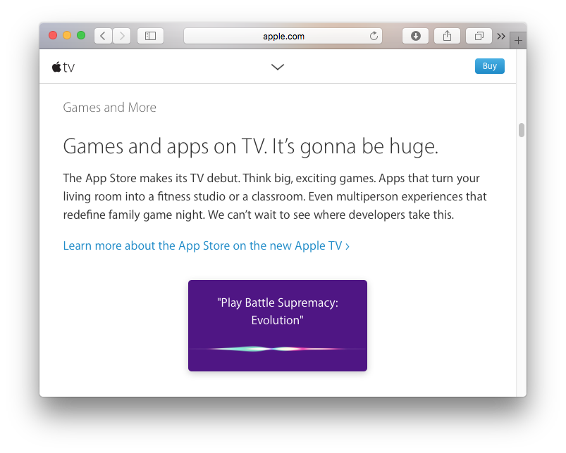 Editor's Notes: With Popular Games on the Apple TV App Store