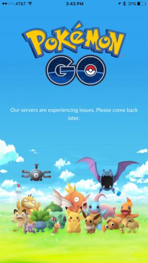 Pokemon Go Server Error