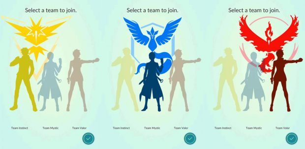pokemon go team 1