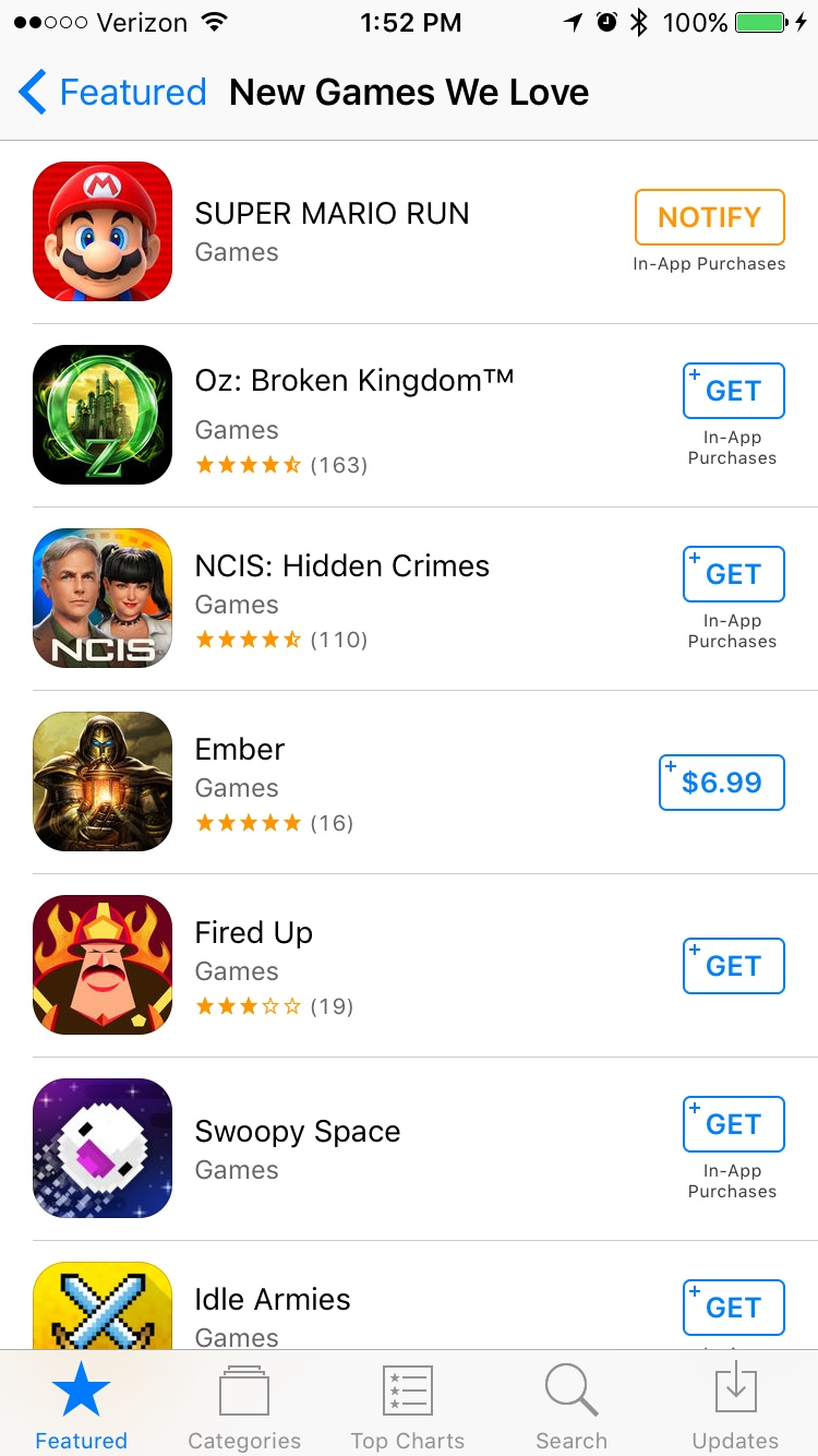 App Store Now Removing Games You Download From Featured List