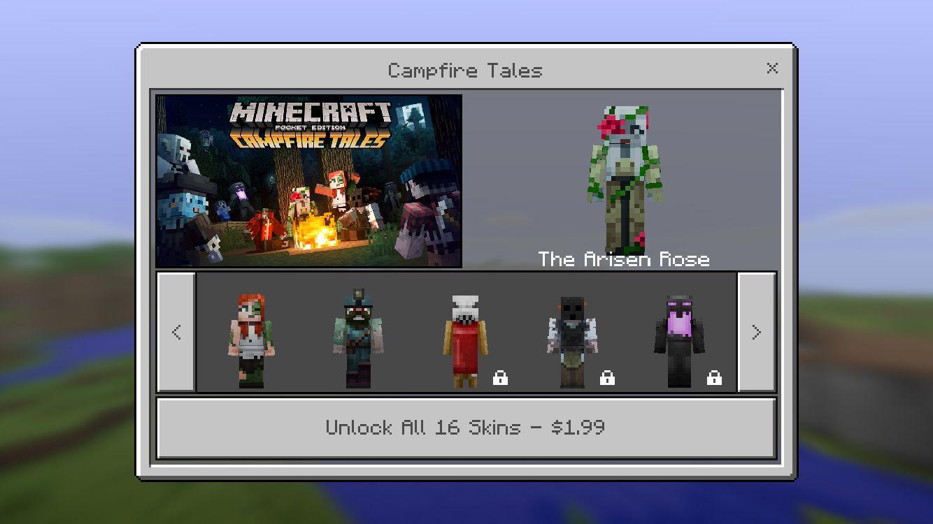 Minecraft Pocket Edition Got Campfire Tales Skins For Halloween - Skin para minecraft pe de luna