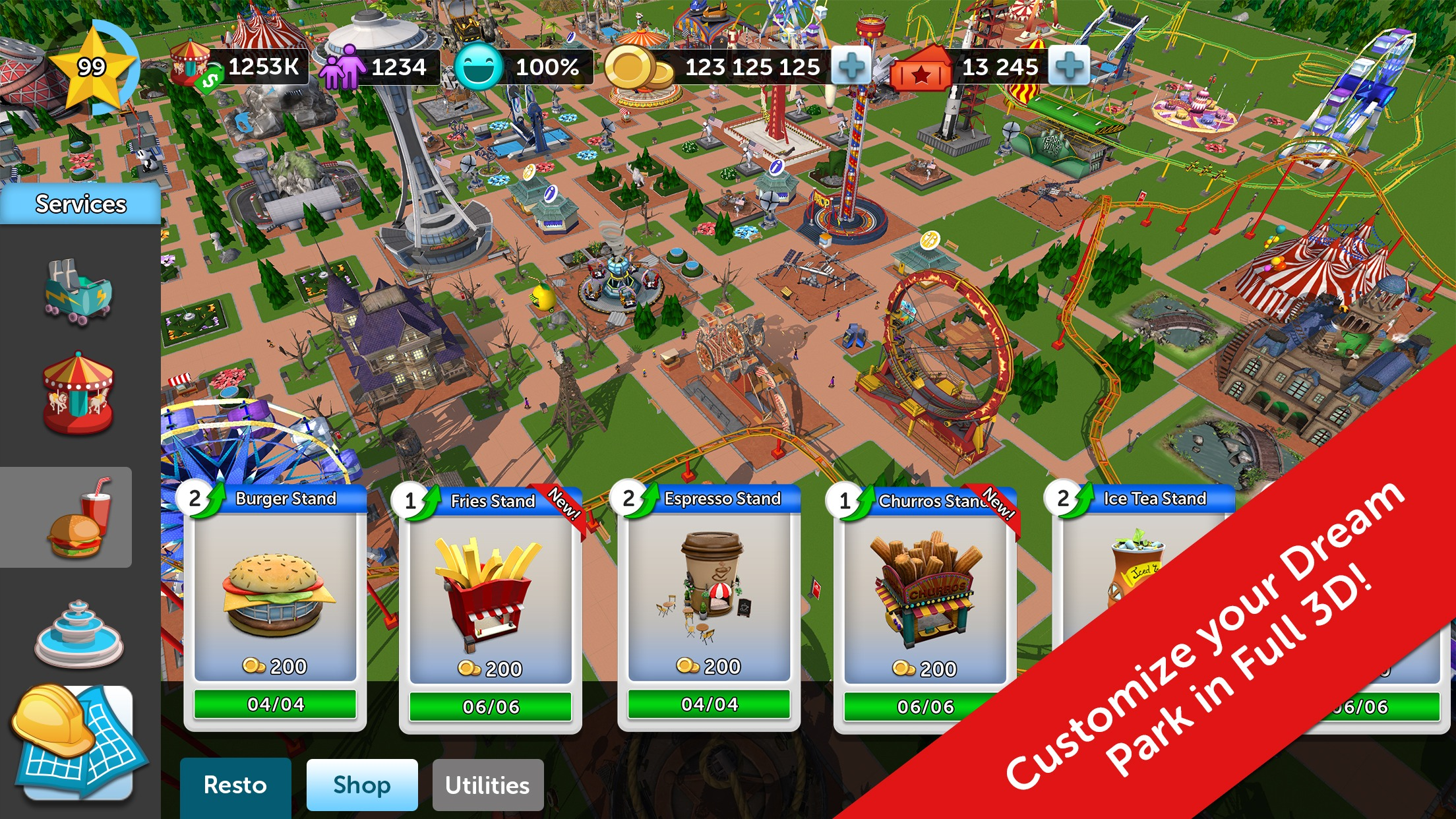 Atari Soft Launches 'RollerCoaster Tycoon Touch' in New