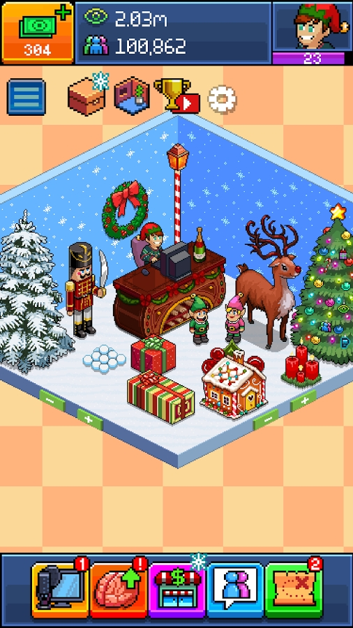 pewdiepie s tuber simulator gets festive holiday update toucharcade