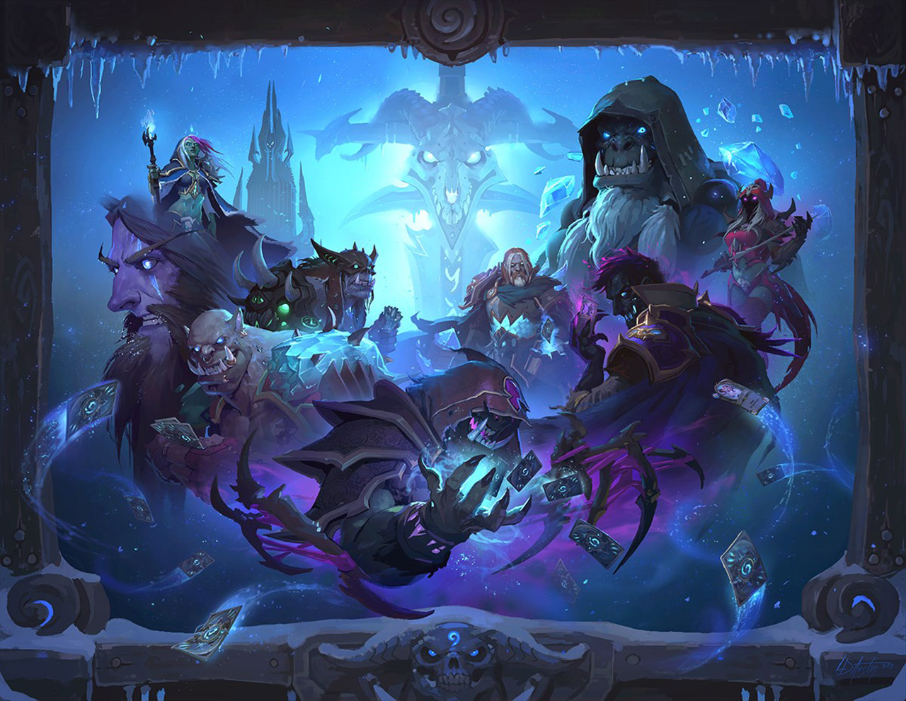 The Solo Missions for 'Hearthstone' 'Knights of the Frozen