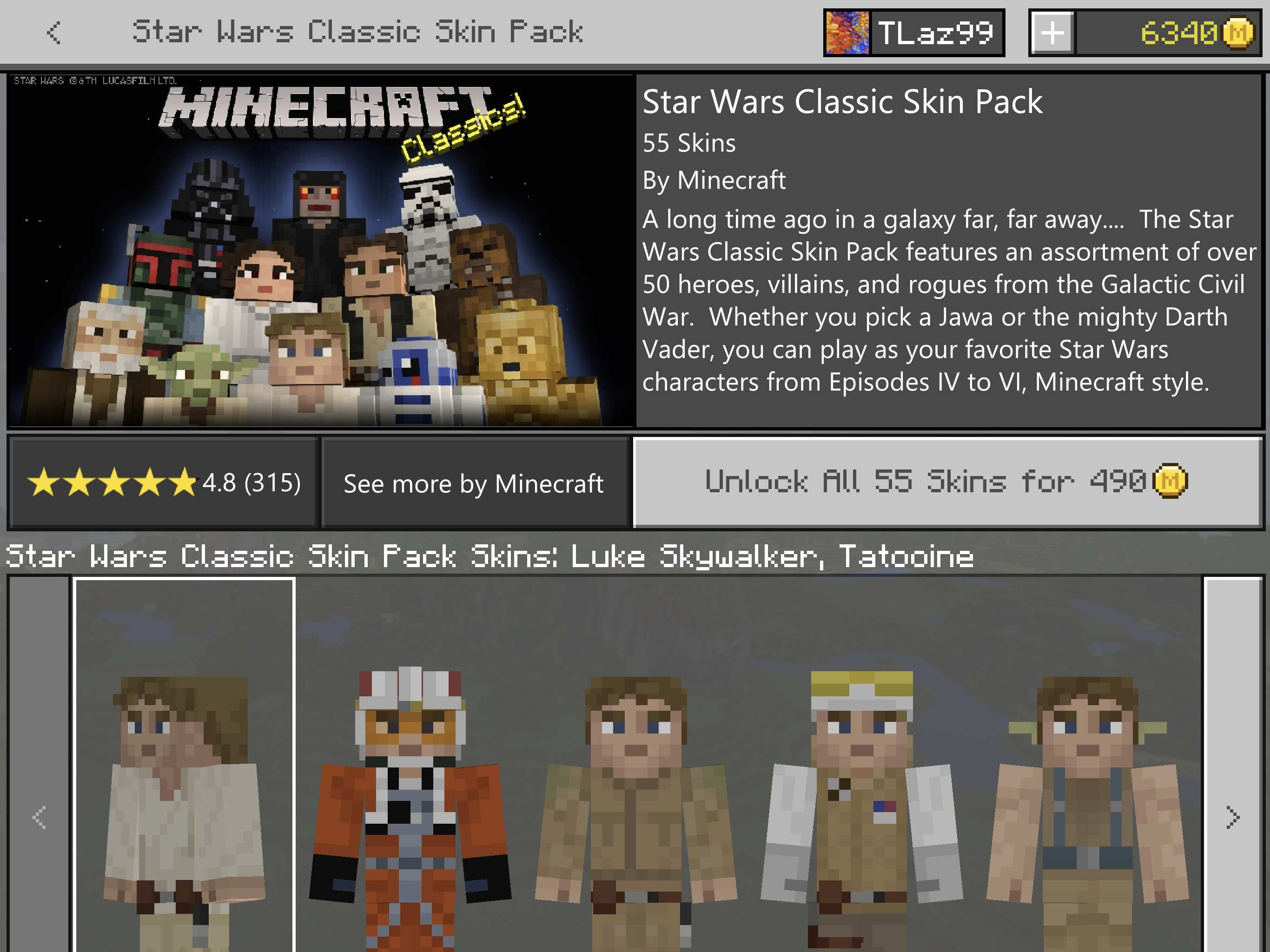 Best Minecraft Skins On The MarketplaceStar Wars Stranger - Skin para minecraft android y pc