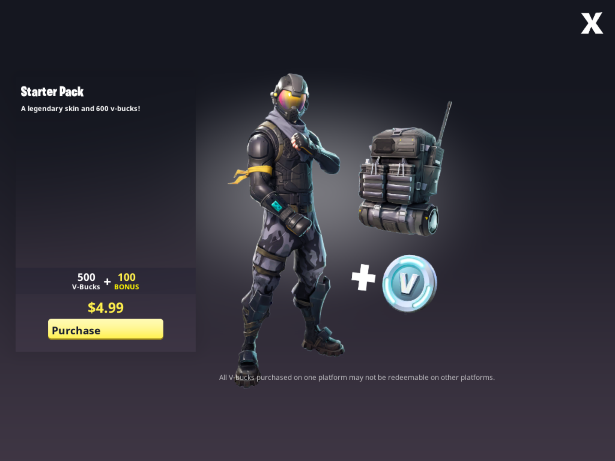 Fortnite Introduces Starter Pack With V Bucks And Outfit Toucharcade