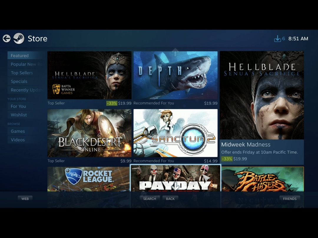 Steam Link' App Hands-On Preview – The iOS and Apple TV