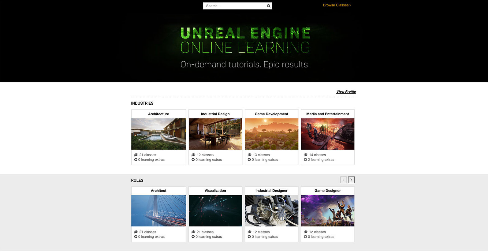 Epic Announces Unreal Engine Online Learning Platform – Learn How to
