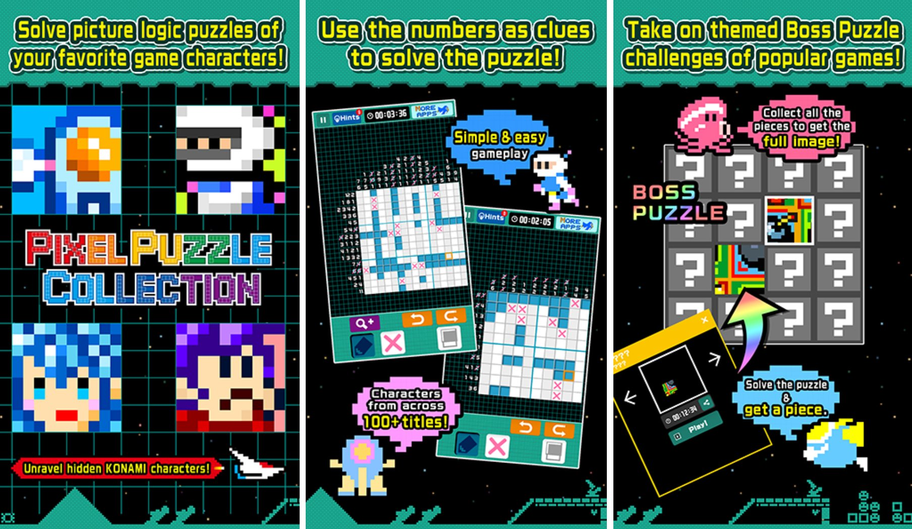 Konami Just Released 'Pixel Puzzle Collection' Which Is
