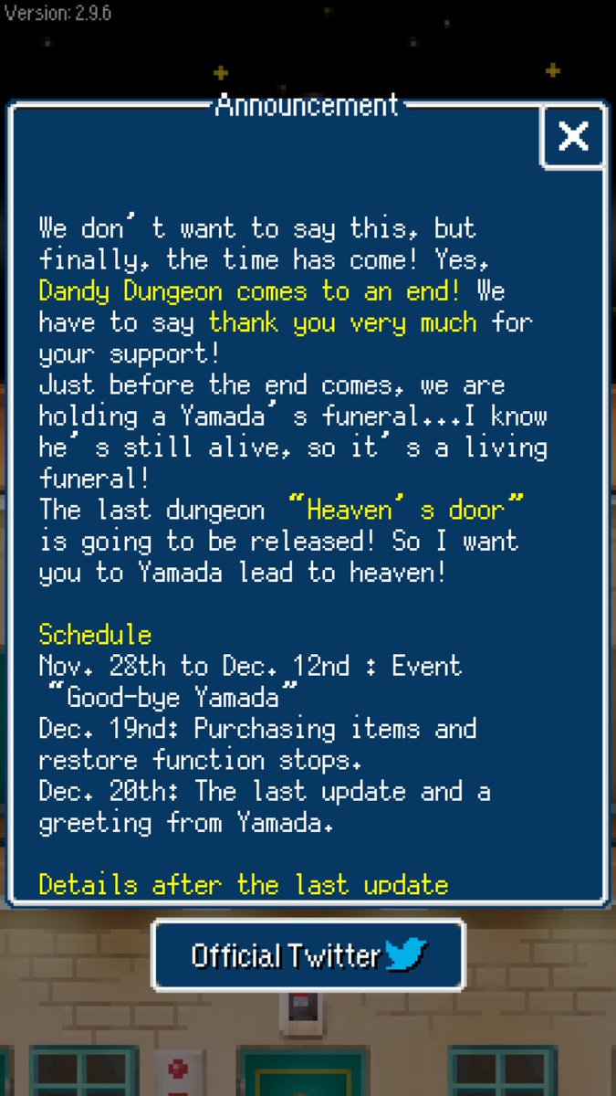 0706301fc6e Dandy Dungeon  is Ending Service on December 20th
