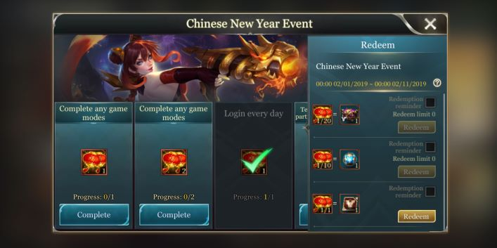 Arena of Valor' News: PS4 Leaks, Chinese New Year Skins, And Codex