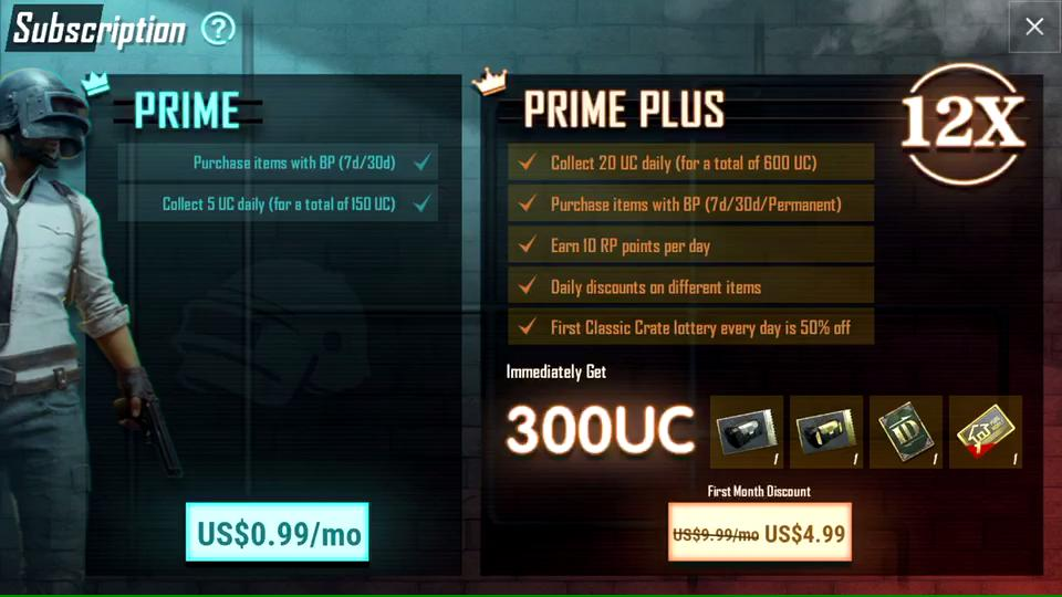 PUBG Mobile' Prime and Prime Plus Subscriptions Are Now Live