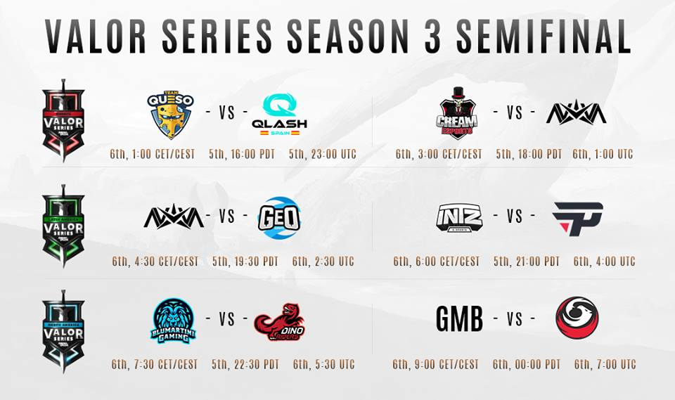Valor Series Playoffs schedule