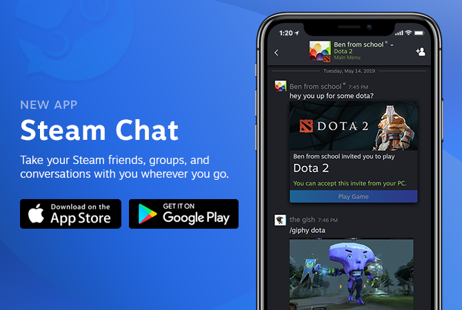 Valve Just Released a Standalone 'Steam Chat' App for iOS and