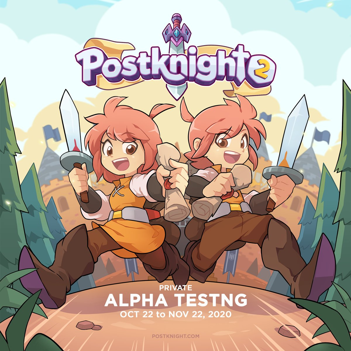 photo of 'Postknight 2' is in the Works and Taking Sign-Ups for a Closed Alpha Test Next Month image