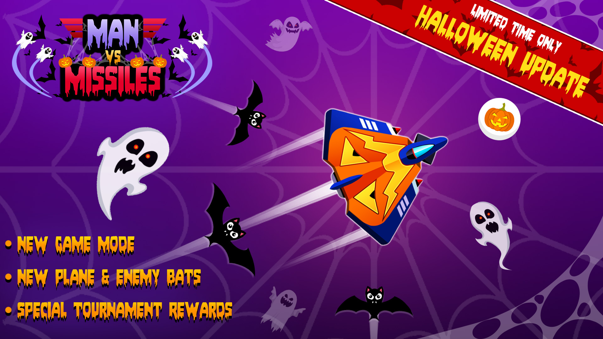 'Man Vs. Missiles' Halloween Update with New Mode, Leaderboards, UI Changes, and More Is Out Now